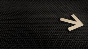 деревянный символ 3d значка стрелки правого представить бесплатная иллюстрация