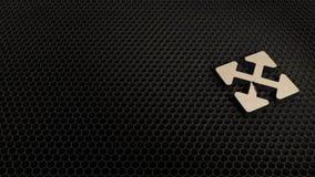 деревянный символ 3d значка 4 стрелок направления представить бесплатная иллюстрация