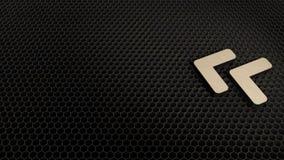 деревянный символ 3d значка угла двойного левого представить бесплатная иллюстрация