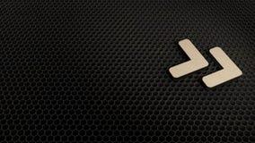 деревянный символ 3d значка угла двойного правого представить бесплатная иллюстрация