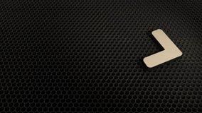 деревянный символ 3d значка угла правого представить иллюстрация штока
