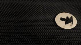 деревянный символ 3d клавиши правой стрелки в значке круга представить бесплатная иллюстрация