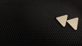 деревянный символ 3d отсталого значка представить иллюстрация вектора