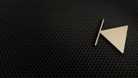 деревянный символ 3d стопа назад вышел значок для того чтобы представить иллюстрация вектора