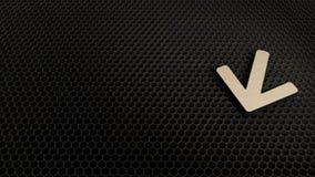 деревянный символ 3d стрелки вниз со значка представить бесплатная иллюстрация