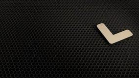 деревянный символ 3d угла вниз со значка представить иллюстрация штока