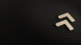 деревянный символ 3d угла удваивает вверх значок для того чтобы представить иллюстрация штока