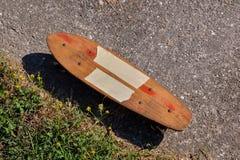 Деревянный скейтборд доски конька 70's Стоковые Изображения RF