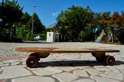 Деревянный скейтборд доски конька 70's Стоковая Фотография RF
