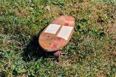 Деревянный скейтборд доски конька 70's Стоковое Изображение