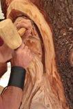 Деревянный скульптор стоковое изображение rf
