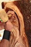 Деревянный скульптор стоковые изображения