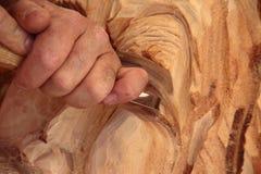 Деревянный скульптор стоковая фотография rf