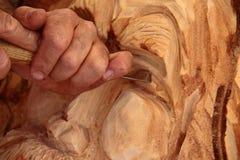 Деревянный скульптор стоковое фото rf