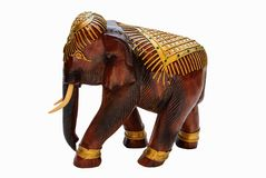 Деревянный слон высекает Стоковое Изображение RF