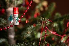 Деревянный снеговик Стоковые Изображения