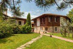 Деревянный старый дом от Arbanasi, Болгарии Стоковое Изображение RF