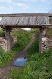 Деревянный старый строб стоковое фото rf