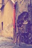 Деревянный старый стул Стоковая Фотография RF