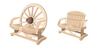 Деревянный стенд стула иллюстрация вектора