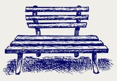 Деревянный стенд иллюстрация штока