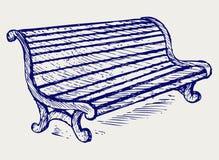 Деревянный стенд иллюстрация вектора