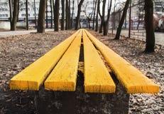 Деревянный стенд в парке Стоковые Фото