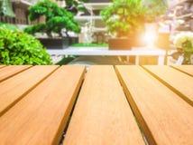 Деревянный стол для ваших текстуры и концепции продукта Стоковое Изображение RF