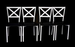 Деревянный стул в черно-белом Стоковое Изображение
