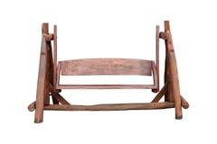 Деревянный стул качания для украшения и зона комфорта в саде Стоковая Фотография RF