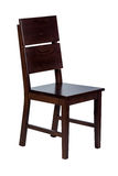 Деревянный стул с изолированный Стоковое фото RF