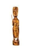 Деревянный сувенир куклы Фиджи на белой предпосылке Стоковые Фотографии RF