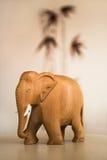 Деревянный слон Стоковая Фотография