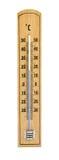 Деревянный термометр Стоковое Изображение
