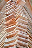 Деревянный тимберс используемый для конструкции Стоковая Фотография RF