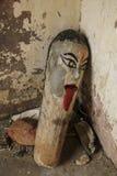Деревянный тотем от Джайпура, Индии стоковое изображение