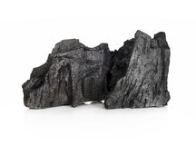 Деревянный уголь изолированный на белой предпосылке стоковые изображения rf