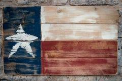 Деревянный флаг Техаса стоковая фотография