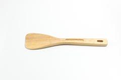 Деревянный флиппер или изолированная лопатой белая предпосылка Стоковые Изображения RF