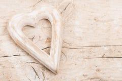 Деревянный Харт на древесине стоковое изображение rf