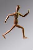Деревянный ход куклы Стоковое Изображение