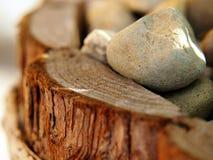 Деревянный цветочный горшок Стоковые Изображения RF
