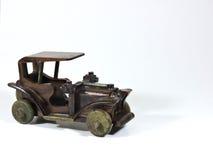 Деревянный черный автомобиль игрушки Стоковая Фотография RF