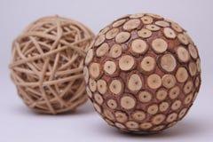 Деревянный шарик стоковые фотографии rf