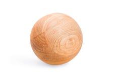 Деревянный шарик Стоковое Изображение