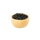 Деревянный шар сухих черных фасолей изолированных на белизне Стоковые Фотографии RF