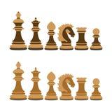 Деревянный шахмат иллюстрация вектора