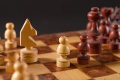 Деревянный шахмат Стоковые Изображения