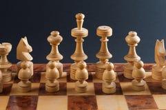 Деревянный шахмат Стоковое Изображение