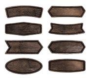 Деревянный шильдик изолированный на белой предпосылке стоковая фотография